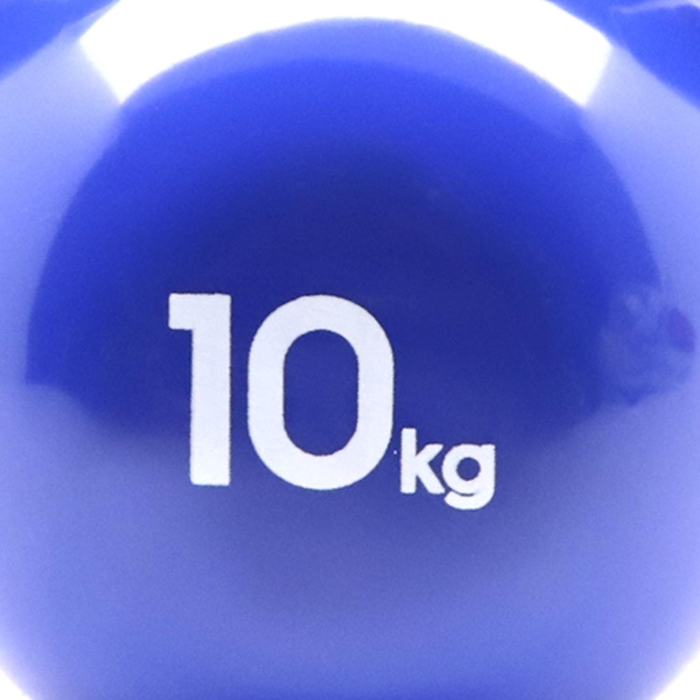 MANCUERNA KETTLEBELL HIERRO VINILO 10 KG