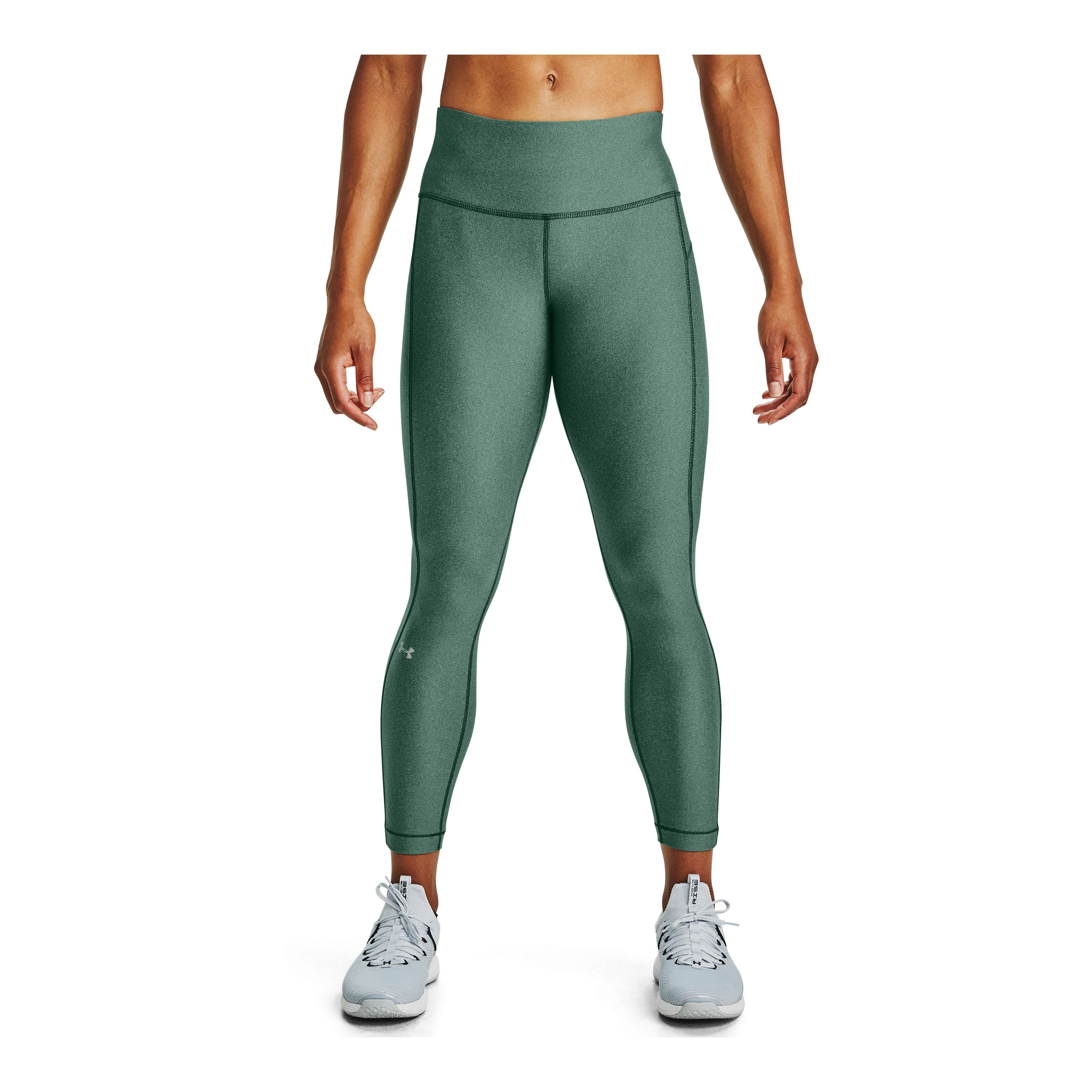 Calza Mujer Under Armour Hg Hi-Rise Ankl Crop Verde
