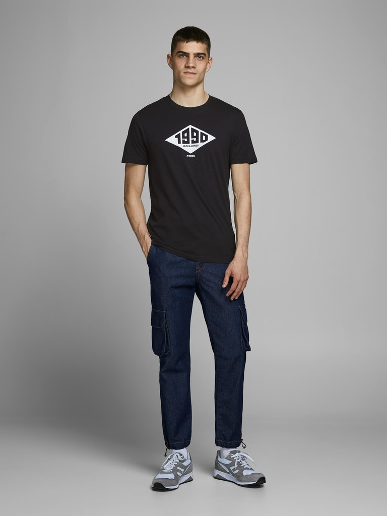 POLERA HOMBRE JACK AND JONES CREW NECK NEGRO