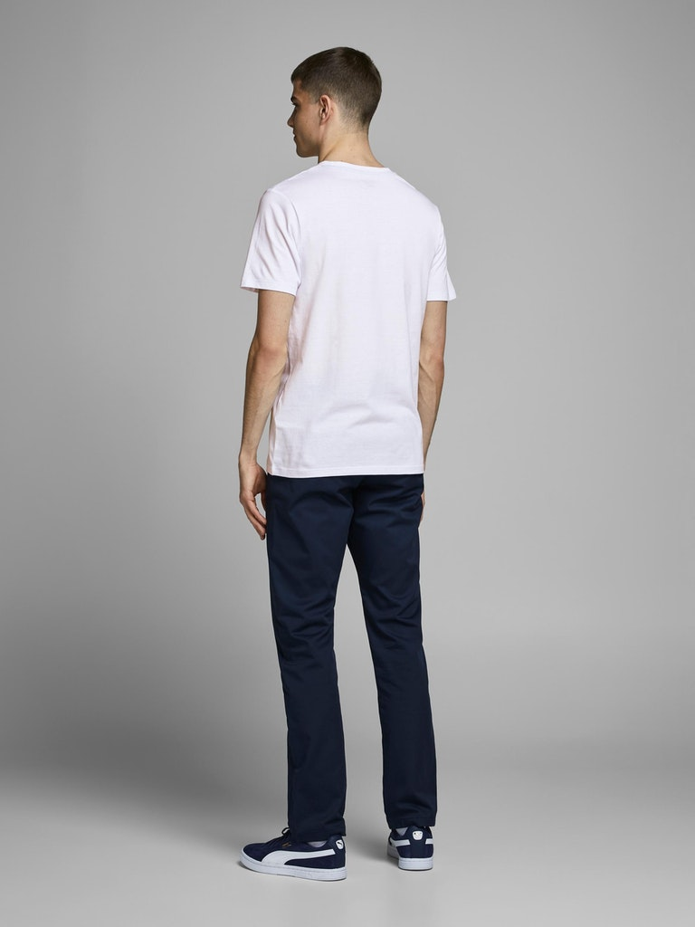POLERA HOMBRE JACK AND JONES CREW NECK BLANCO