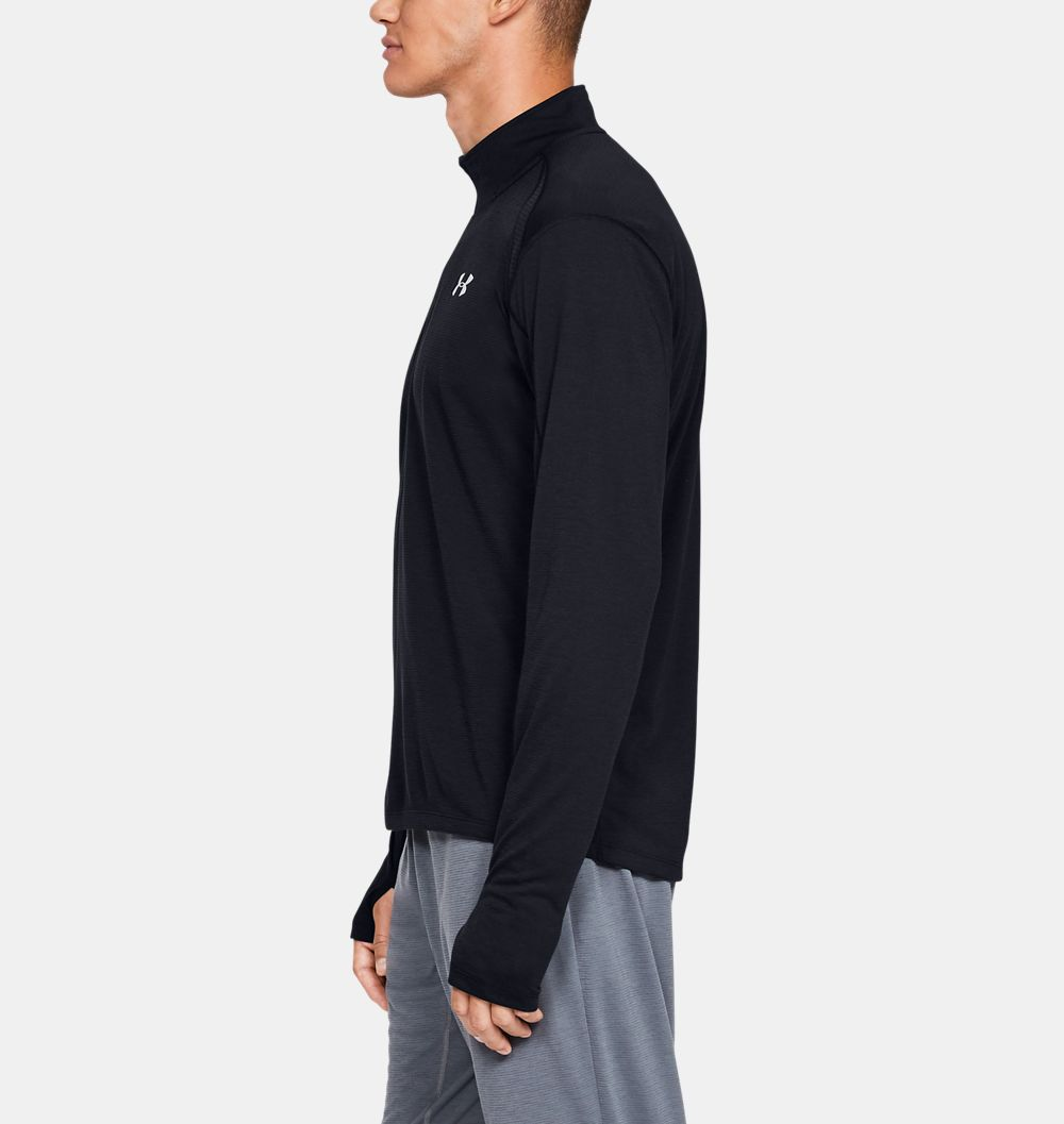 POLERA MANGA LARGA HOMBRE UNDER ARMOUR STREAKER NEGRO