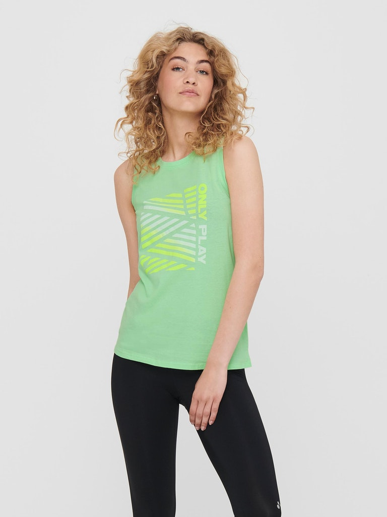 POLERA SIN MANGAS MUJER ONLY PLAY MINDY LIFE SL VERDE