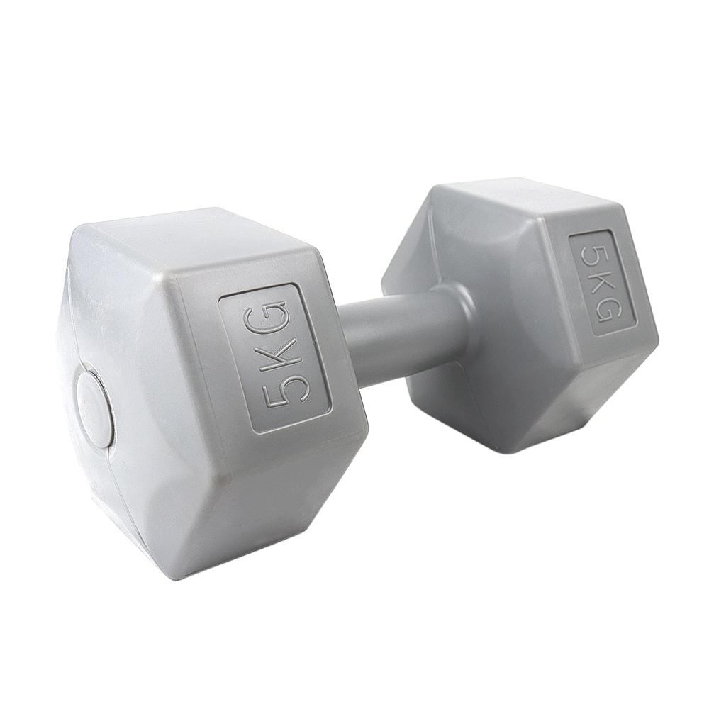 cement hex dumbbell 5kg gris