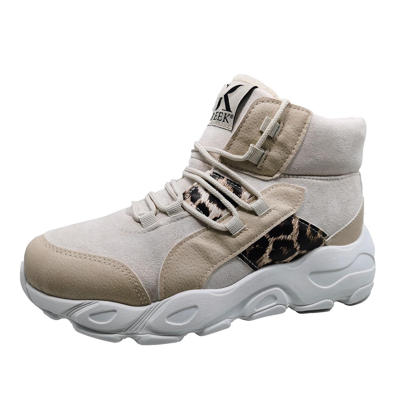 Zapatillas de Mujer Caña Alta Emotion Greek Beige-blanco