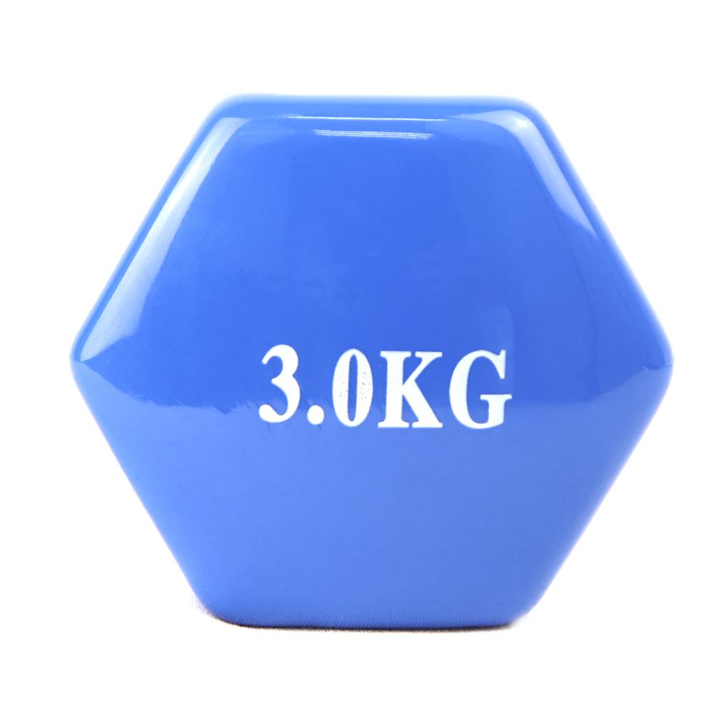 Vinyl Coated dumbbell 3kg UNIDAD