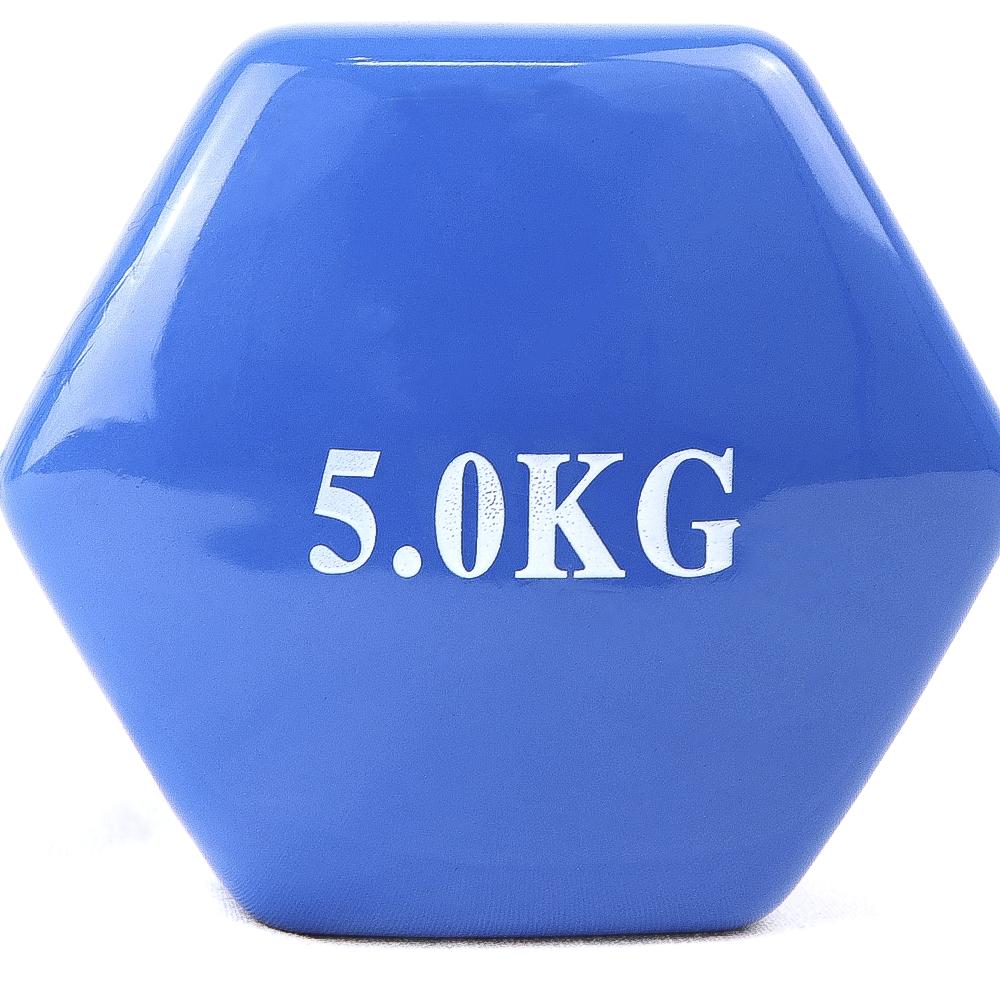 Vinyl Coated dumbbell 5kg UNIDAD