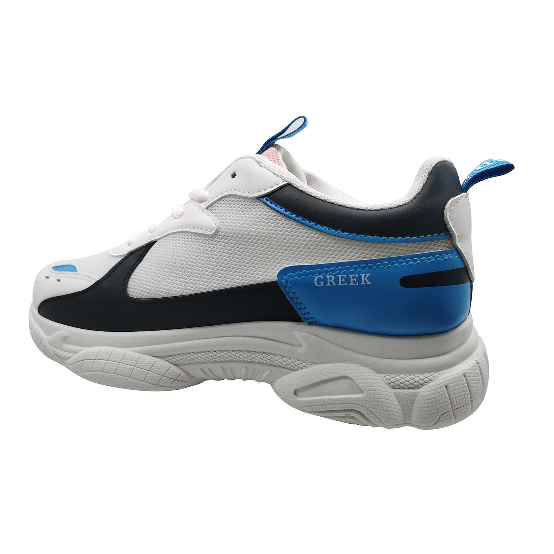 Zapatillas de Mujer Style Supreme Greek Blanco-Azul