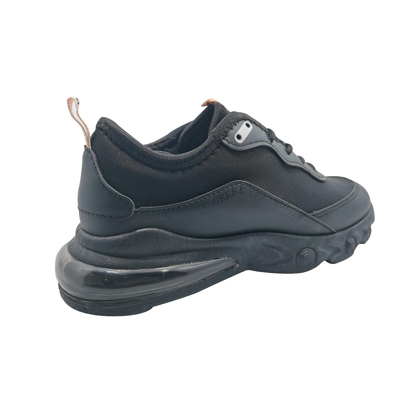 Zapatillas Urbanas de Mujer All Style Con Aire Greek Negro-Negro