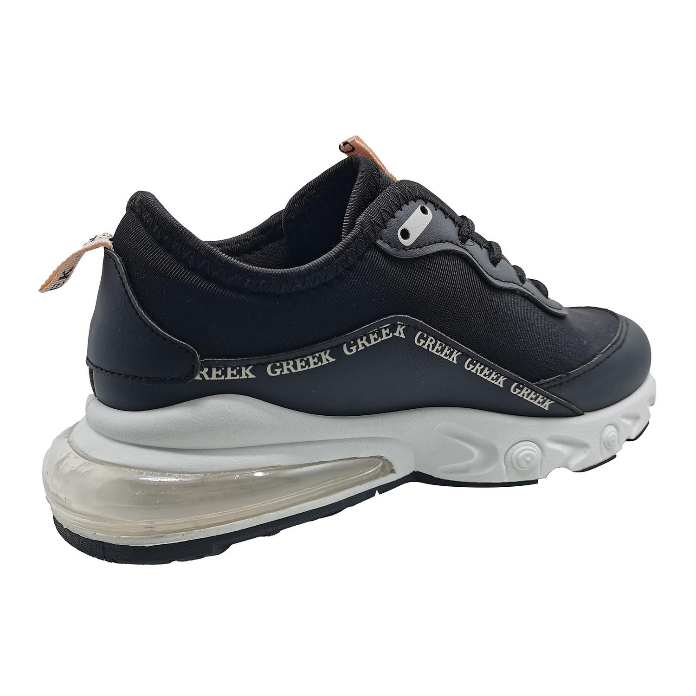 Zapatillas Urbanas de Mujer All Style Con Aire Greek Negro-Blanco