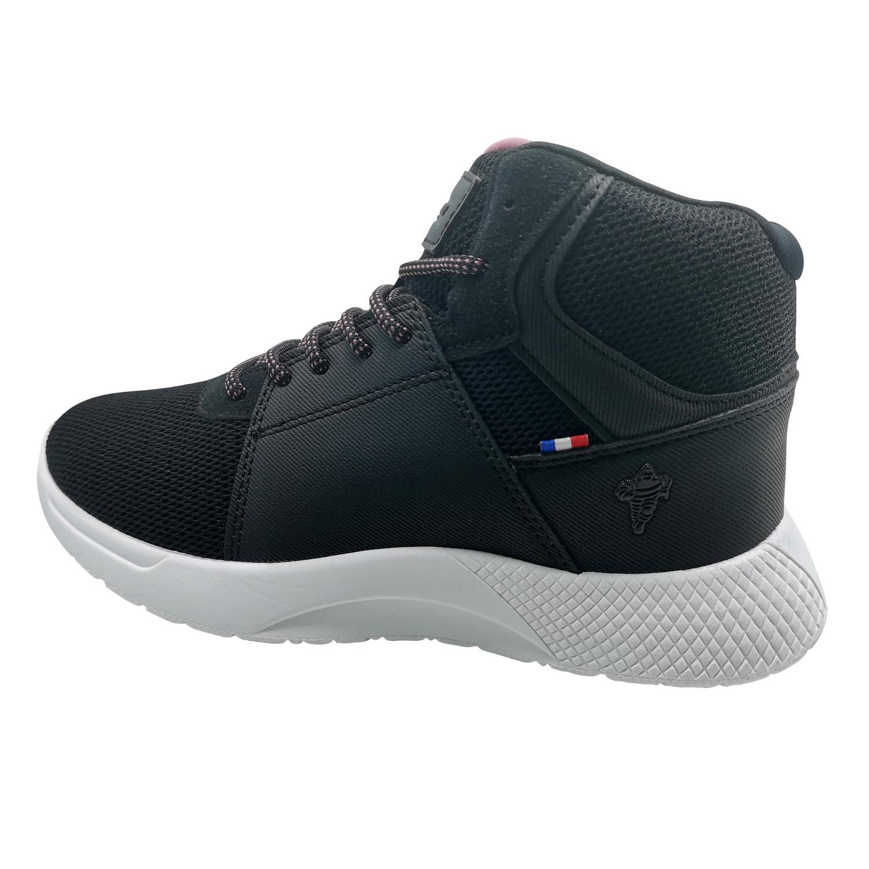 Zapatillas de Mujer Michelin Footwear Country Rock Caña Alta Negro-Rosado