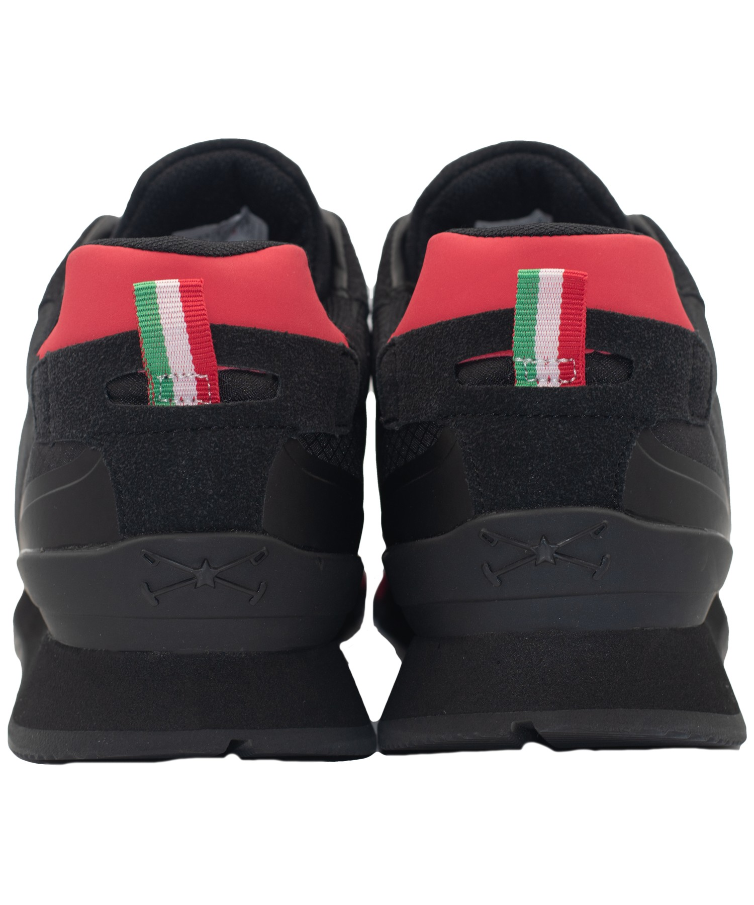 Zapatillas de Hombre Bhpc Bling Negro-Rojo