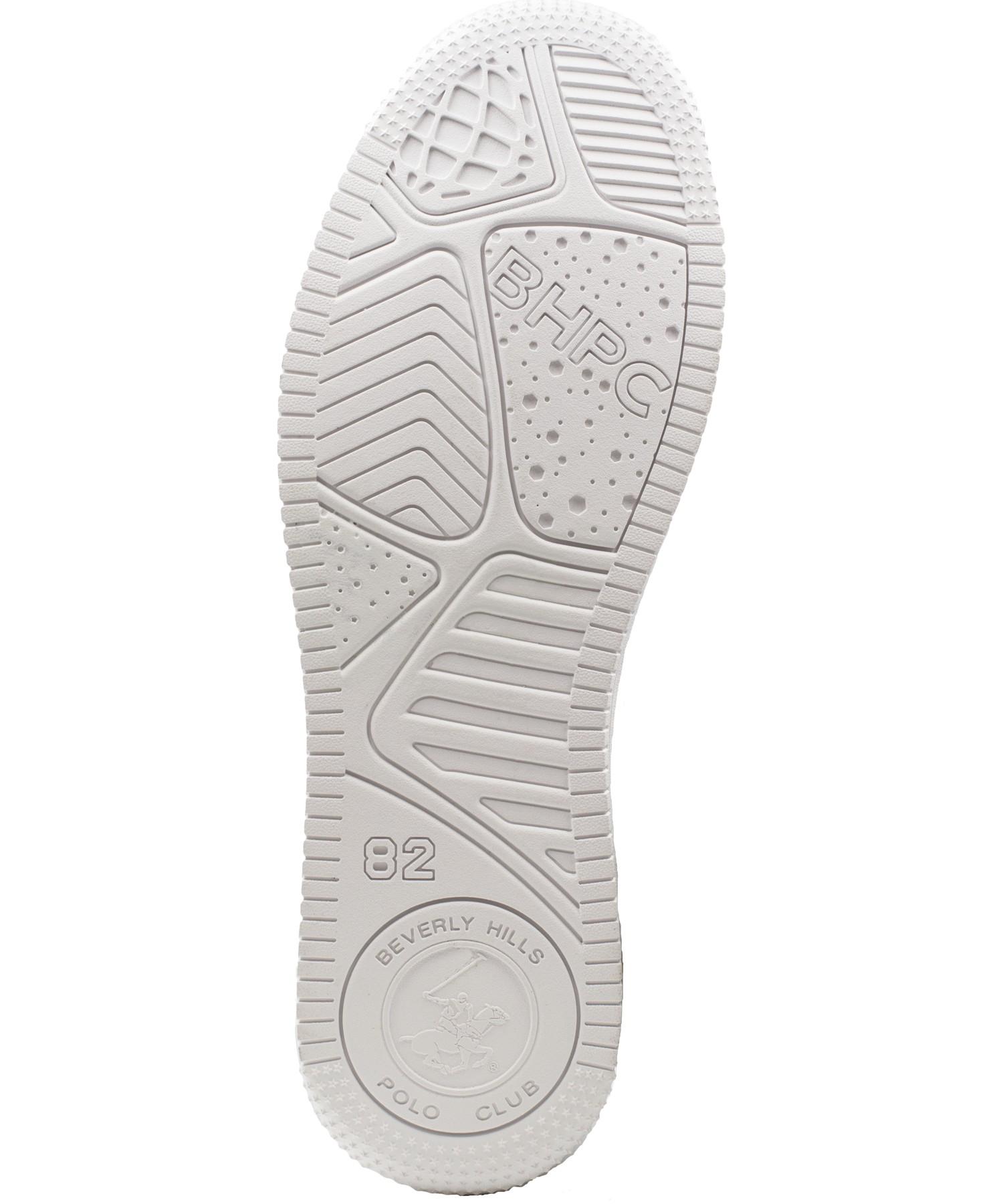 Zapatillas de Hombre Bhpc Nippo Caña Alta Blanco-Negro