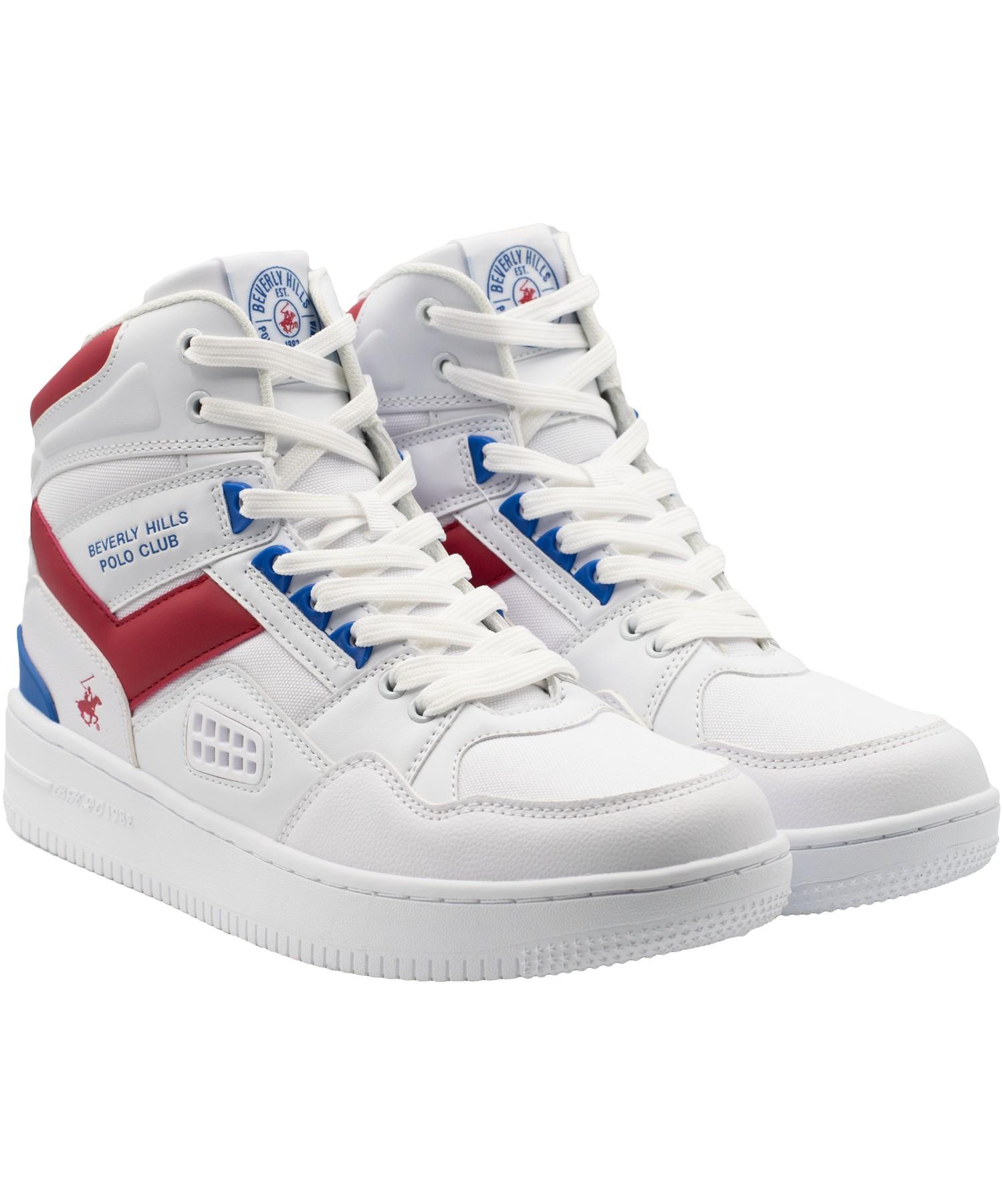 Zapatillas de Hombre Bhpc Nippo Caña Alta Blanco-Rojo