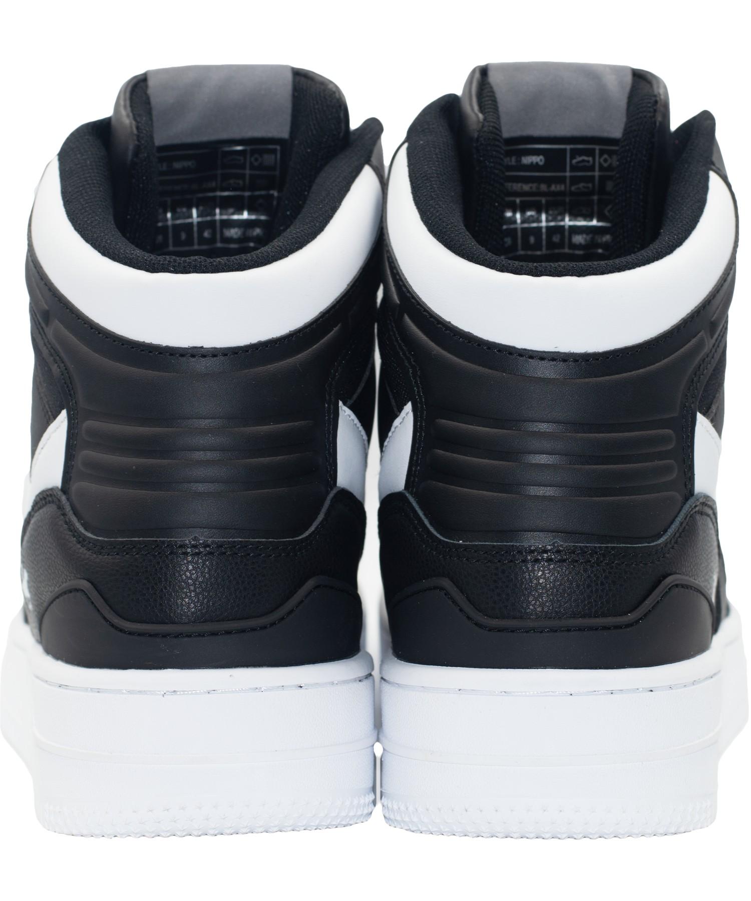 Zapatillas de Hombre Bhpc Nippo Caña Alta Negro-Blanco