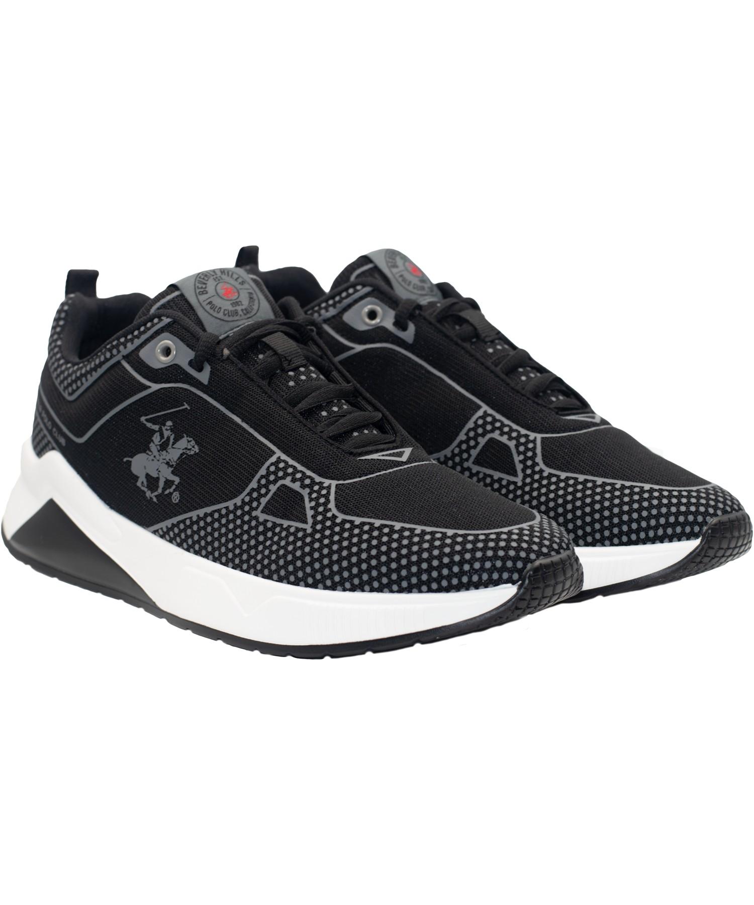 Zapatillas de Hombre Bhpc Sandos Negro-Blanco