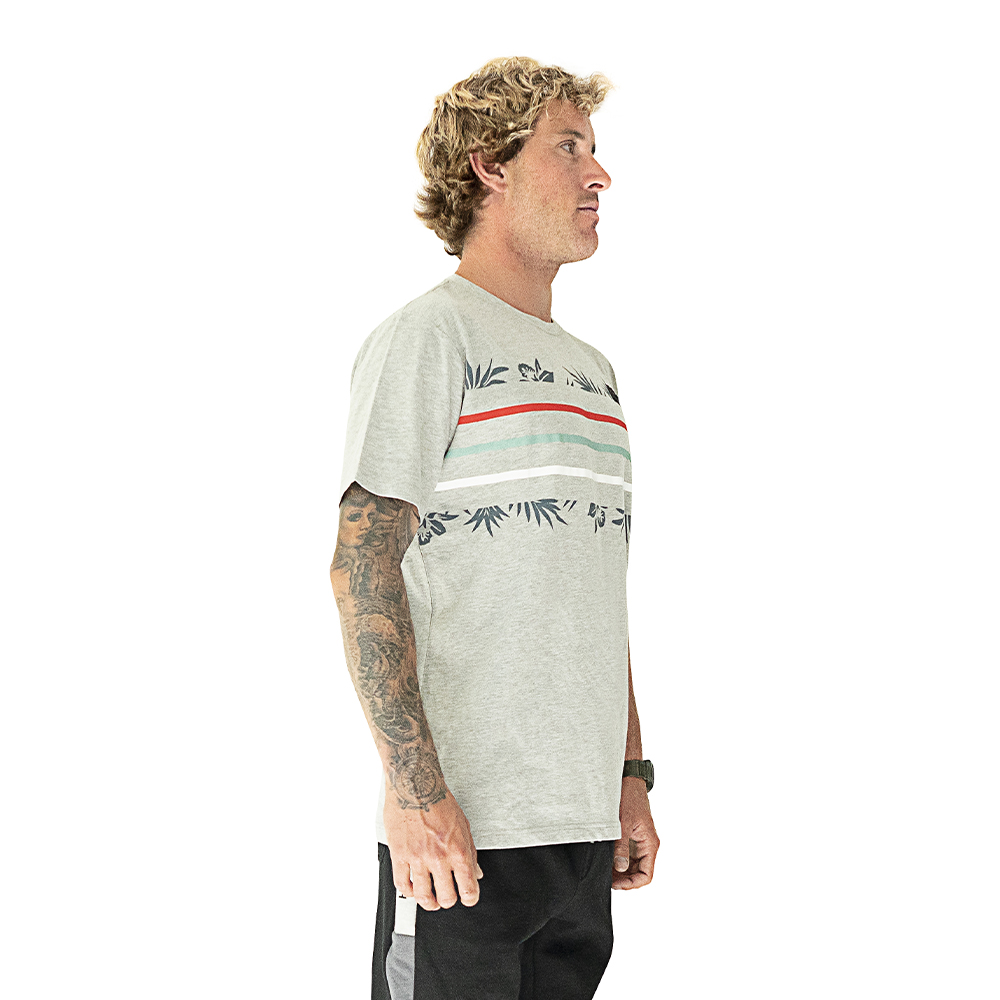 POLERA HOMBRE HANG LOOSE COLORFLOWER GRIS