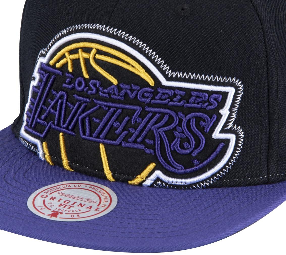 NBA NEON CROP XL SNAPBACK  LAKERS