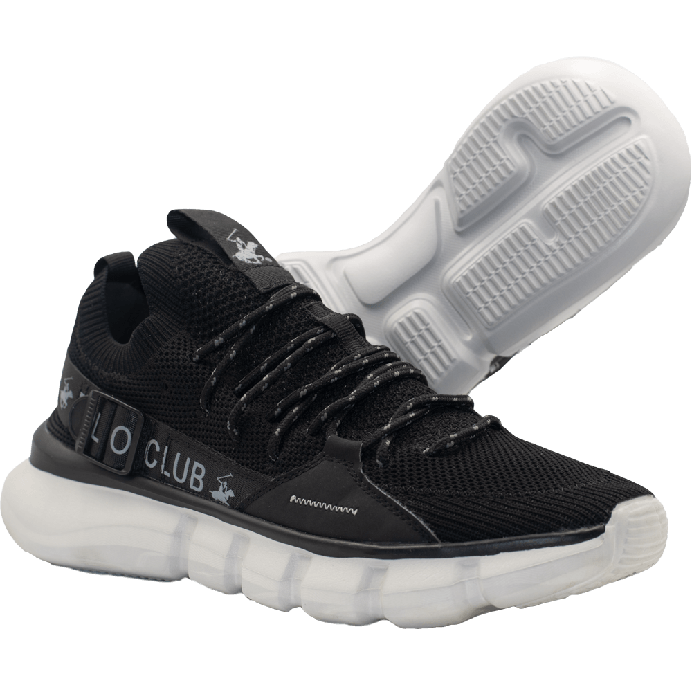 Zapatillas de Hombre Bhpc Zohan Negro-Blanco