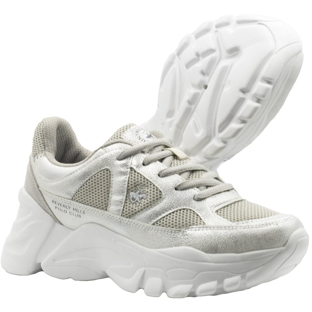 Zapatillas de Mujer Bhpc Nina Gris-Blanco