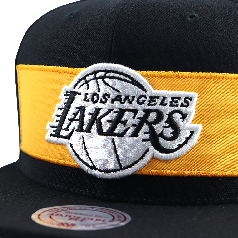 GORRO MITCHELL AND NESS  LAKERS  SNAPBACK BLACK/GOLD
