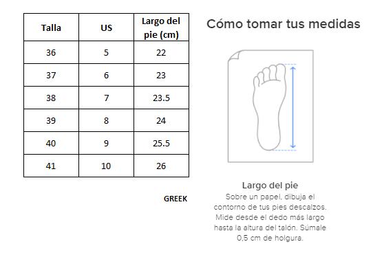 Zapatillas de Mujer Caña Alta Emotion Greek Gris-blanco