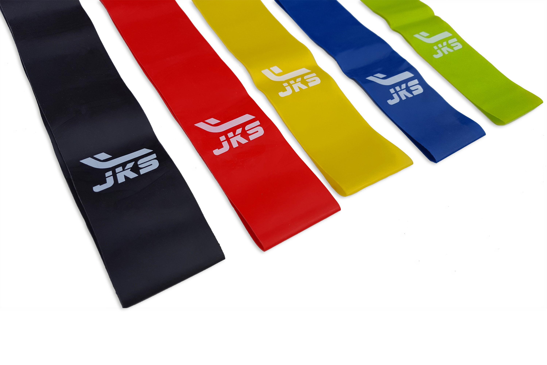 Banda Elástica JKS 5 Niveles Resistencia Set