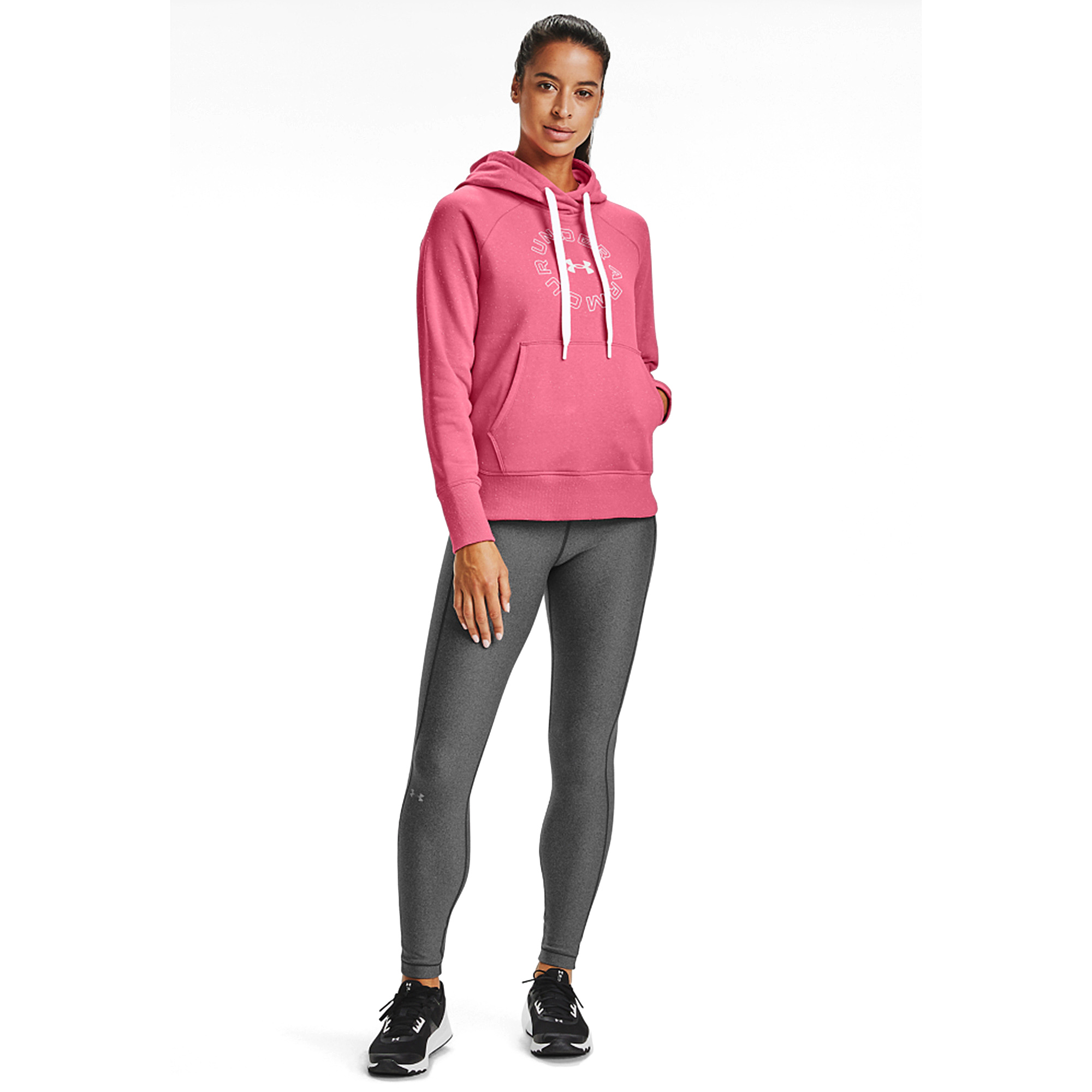 POLERON DE MUJER UNDER ARMOUR RIVAL FLEECE METALLIC ROSADO