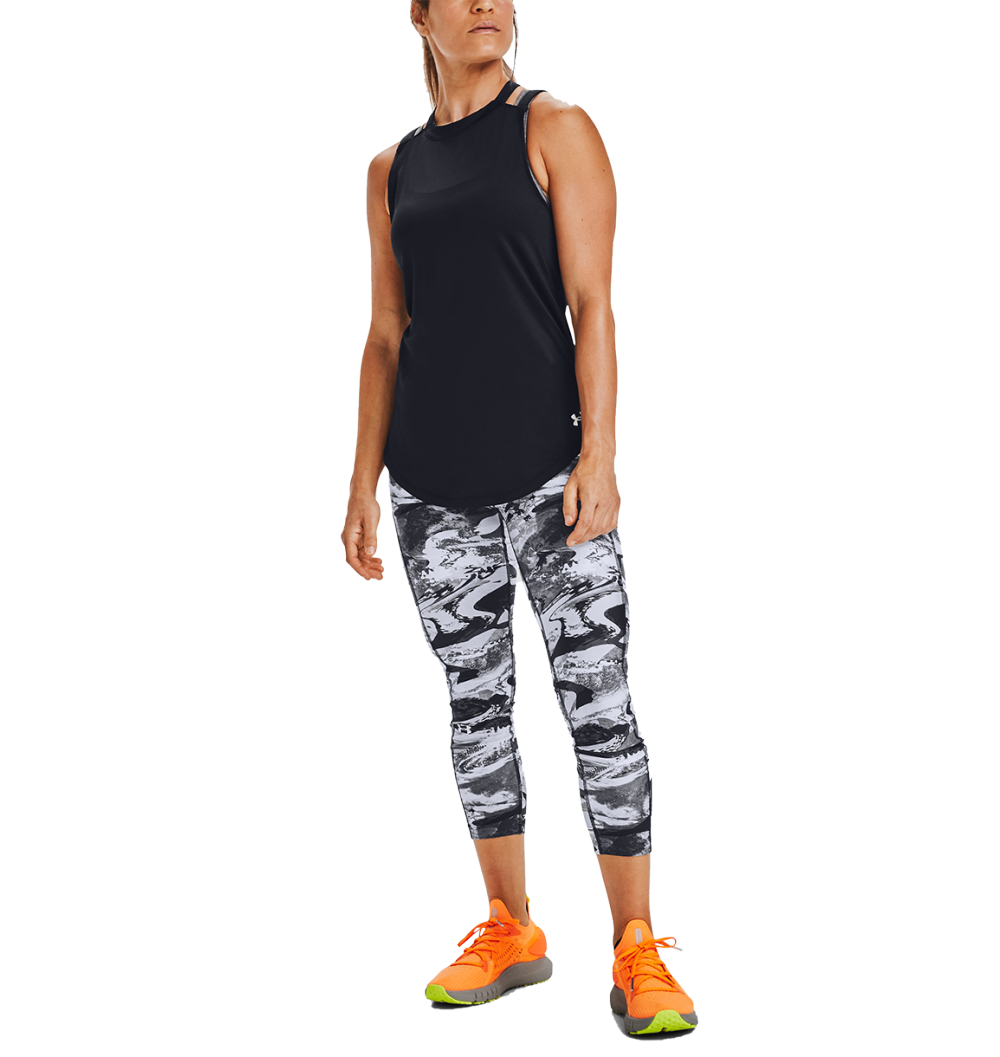 CALZA DE MUJER UNDER ARMOUR HG ARMR PRINT ANKLE CROP